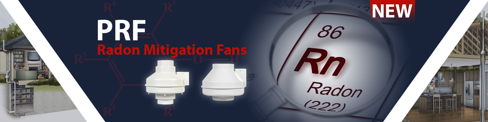 New PRF Series - Radon Mitigation Fans
